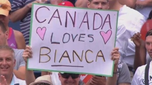 Support for Canadian tennis star Bianca Andreescu
