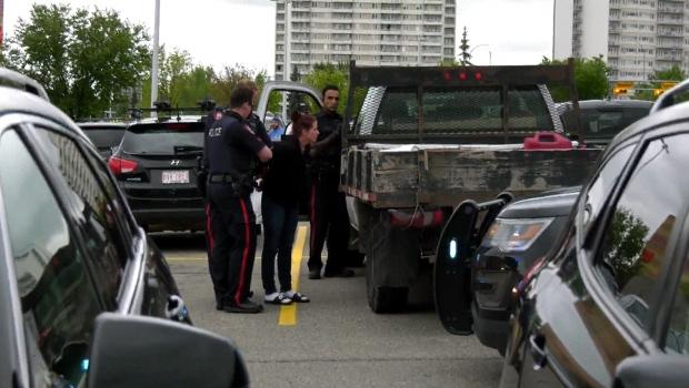 Chinook, Centre, parking lot, arrest, stolen