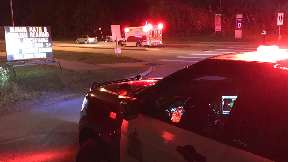 Winterburn Road between 96 and 100 Avenue is closed after an SUV struck a man Monday night.