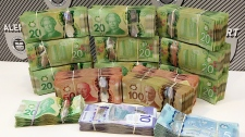 Cash seized during Edmonton search