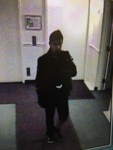 Security cam pic of break in suspect