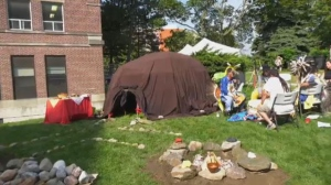 A new medicine sweat lodge has opened on the grounds of Michael Garron Hospital on Aug. 13, 2019.