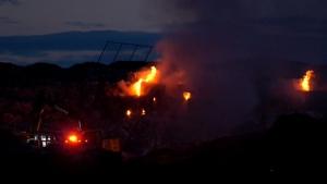 ECCO, recycling, fire, southeast, Calgary