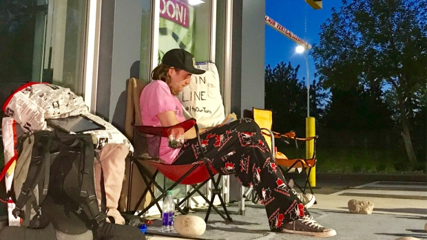 Camping out at Jollibee: Man living outside fast food joint 72 hours before opening
