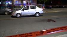 car, pedestrian, blood