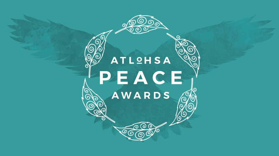 The logo for the Atlohsa Peace Awards is seen in this handout image.