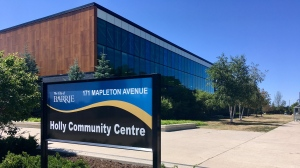 The Holly Community Centre in Barrie, Ont. (CTV News/KC Colby)