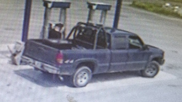 New Brunswick RCMP were looking for this pickup truck in connection with the homicide of Corey Sisson. It has since been found. (New Brunswick RCMP)