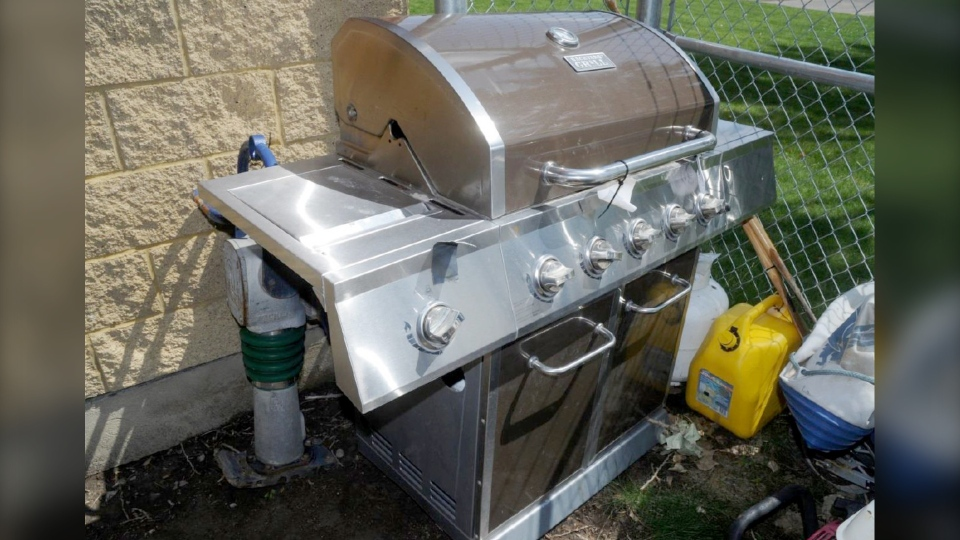 A barbecue was among the property recovered. (Lethbridge police)