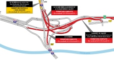 Parts of the Turcot are closed the weekend of Aug. 16