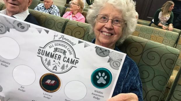 Seniors summer camp in Edmonton.