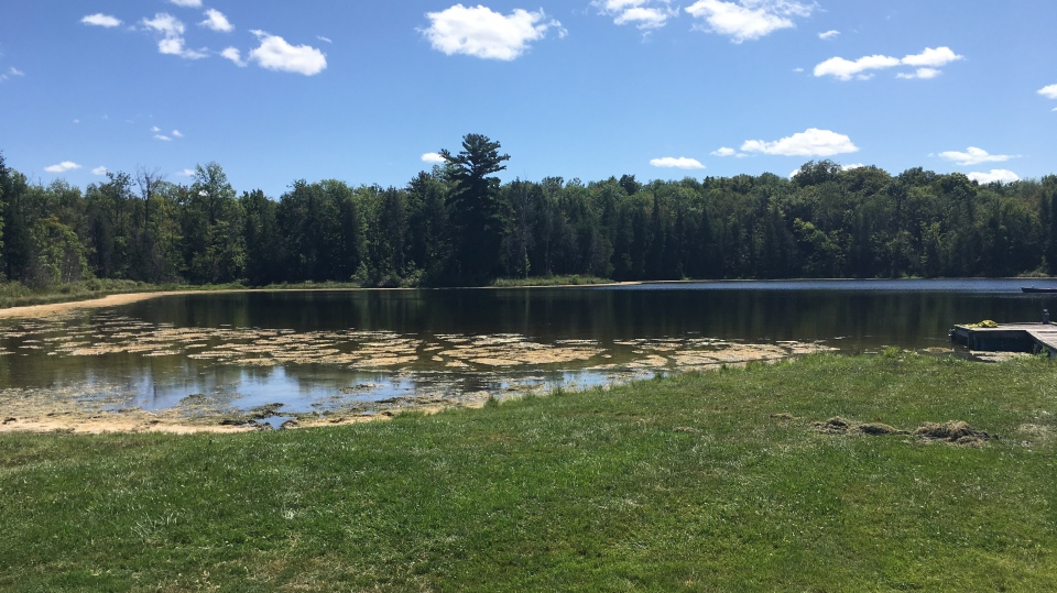 A private lake in an undisclosed area of Normanby Township, which comprises of Ayton, Mount Forest and Neustadt. (Source: West Grey Police Service)
