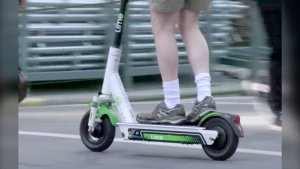 Calgary has one of the highest usage numbers for Lime scooters in the world, the company said Wednesday. (File photo)