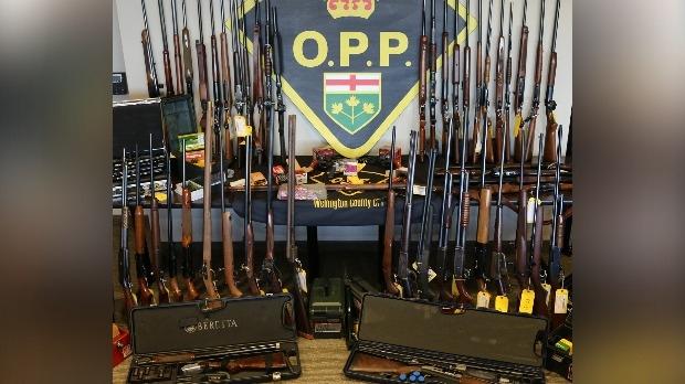Stolen guns on display