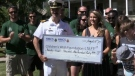 Raising $32,430.57, the crew's 10th annual Sailors for Wishes tour saw the sailors trade in their ship for bicycles to make their way through the city.