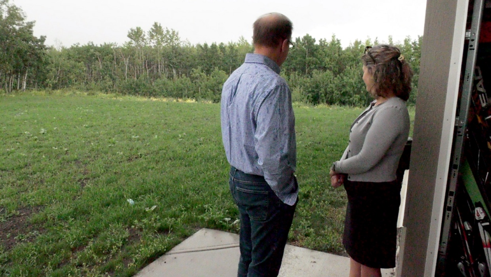 Attila Varga and his wife Rachel Matichak live adjacent to the land where developers have proposed to build an auto mall.