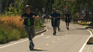 CTV Montreal: eScooters hit the road