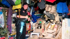 makeshift bunker in the township of Ringle