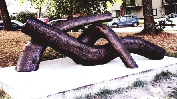 Dude chilling statue