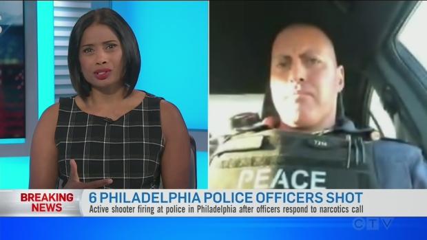 6 Philadelphia police officers shot | CTV News
