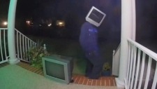 Mysterious man leaves old TV sets on porches