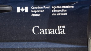 A Canadian Food Inspection Agency logo is seen on a truck on Sept. 27, 2007 northwest of Regina. THE CANADIAN PRESS/Troy Fleece