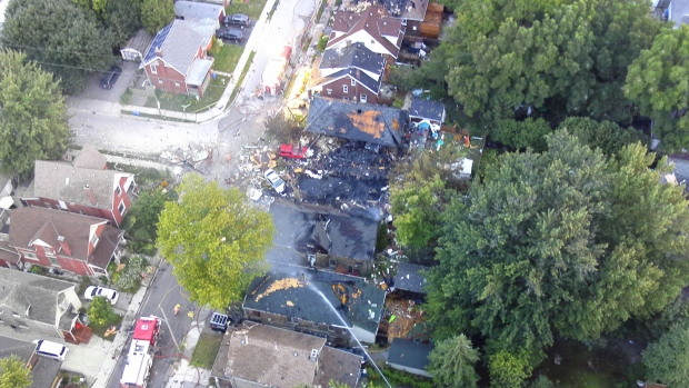 A woman has been charged with impaired driving after a vehicle slammed into a home in southwestern Ontario and hit a gas line. (Source: London Police)
