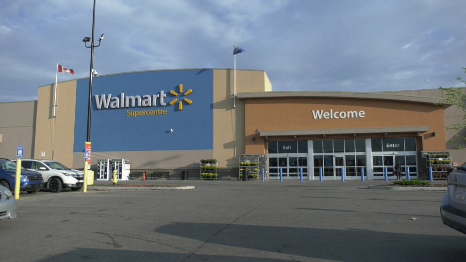 The Walmart on Tamarak Way in Edmonton is seen on Aug. 15, 2019. (Matt Marshall/CTV News Edmonton)