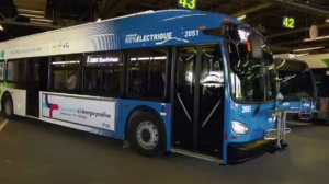 The STL unveiled the first of ten all-electric buses on Aug. 15, 2019. Each bus will have a range of 250 km before needing to be charged for three hours.