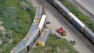 A railway worker has died after an accident in Vaughan on Thursday. (CTV News Toronto)