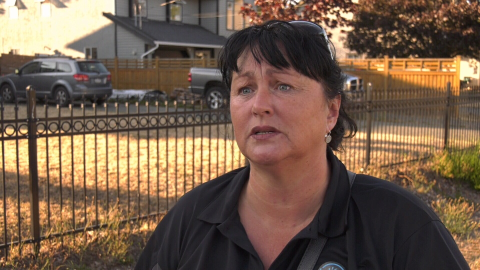 Melissa Hyland says she isn't sure what she and her sons will do now that the rental home they put a damage deposit down on turned out to be a scam. Aug. 14, 2019. (CTV Vancouver Island)