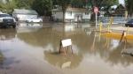 Flooding resulting from a water leak near Ottawa Street and Victoria Avenue. (Nelson Bird/CTV Regina)