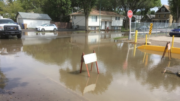 Flooding near Regina General Hospital