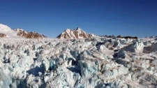 Plastic particles found in Arctic snow
