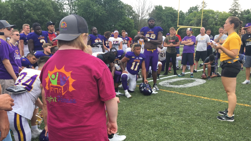 The Laurier Golden Hawks hosted the Lighthouse Program on Thursday. (Natalie van Rooy / CTV Kitchener)