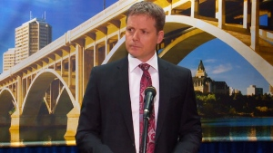 City manager Jeff Jorgenson speaking at a news conference Thursday, Aug. 15, 2019.