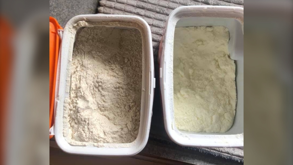 A Spruce Grove mother says the formula she purchased at a southeast Edmonton Walmart was replaced with flour.