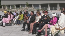 Emotional flag raising at Sudbury city hall