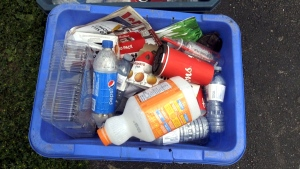 The provincial government says it's developing a stronger, more effective blue box program. The plan is to increase recycling in more communities and help divert waste from landfills. (File)