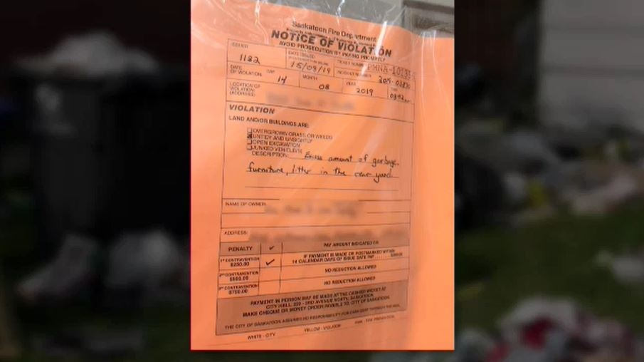 A ticket was handed out to the owner of a nuisance property in Riversdale.