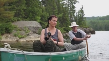 VIDEO: For Heidi Korte's dad's 70th birthday, she made a music video called Ain't No Fishes, filmed in Temagami. (Written by Derrell Syria)