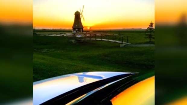 Holland's beautiful windmill. Photo by Murray Peterson.