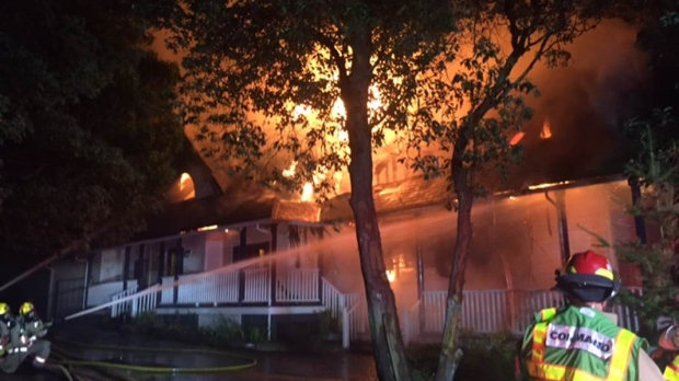 Metchosin home burns in overnight inferno, dog unaccounted for