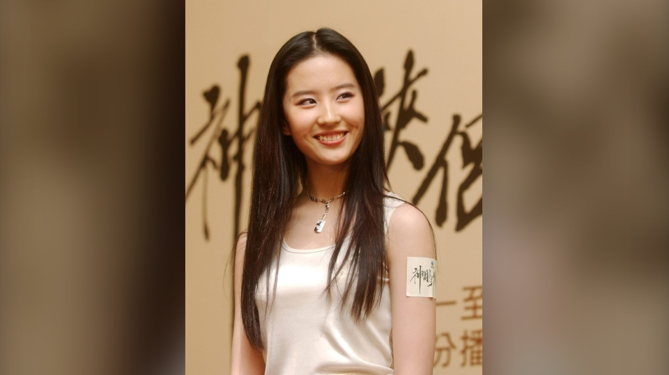 Chinese actress Liu Yifei poses during the promotional of her new TV drama series in Hong Kong July 10, 2006 (AP Photo/Lo Sai Hung)