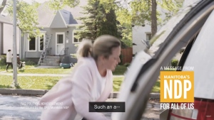 A still taken from a video released this week by the Manitoba NDP. (Source: Manitoba NDP/Youtube.)