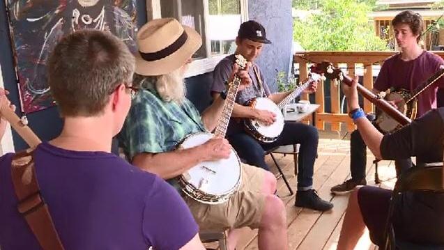 Sweet sounds of bluegrass fill Ness Creek