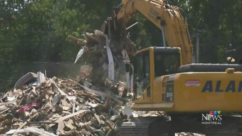 First of 56 homes demolished in Ste-Marthe homes after flood damage