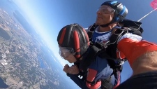 103-year-old celebrated birthday with skydive