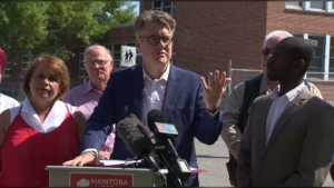 If elected, Liberal Leader Dougald Lamont promised to spend $7 million to help communities affected by soil contamination on Aug. 16, 2019.