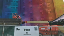 VIDEO: As part of the Sudbury's annual Up Here Festival, work begins on what could be Canada's biggest mural.